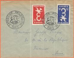 FRANCIA - France - 1958 - 20 + 35 Europa Cept - FDC - Viaggiata Da Paris Per Vincennes - Europa-CEPT