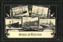 AK Rotterdam, Passagierschiffe S.S. Prins Frederik Hendrik Und Kon. Regentes Im Hafen - Steamers