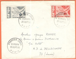 FRANCIA - France - 1965 - 0,30 + 0,60 Europa Cept - FDC - Viaggiata Da Paris Per Notre-Dame-de-Bellecombe - Europa-CEPT