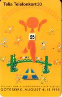SWEDEN(chip) - 5th IAAF World Championships In Athletics Goteborg 1995, CN : C56150812, 05/95, Used - Sweden