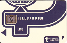 MALTA - Telecom Logo Lm5(blue), Red CN : C3B042967, Chip SC5, 12/93, Used - Malte