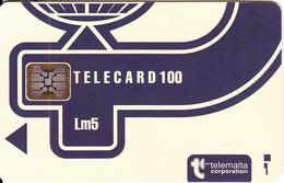 MALTA - Telecom Logo Lm5(blue), Red CN : C3B042966, Chip SC5, 12/93, Used - Malta