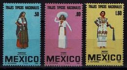 Mexico 1981 - Trachten  Folk Costume - MiNr 1744-1746 - Kostüme