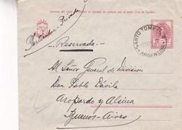 1919 ENTIER STATIONERY CIRCULATION SANTO TOME, CORRIENTES, A BUENOS AIRES - BLEUP - Ganzsachen