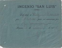 TK-336 CUBA REPUBLICA TOKEN 1905 SUGAR MILLS INGENIO SAN LUIS NIQUERO. VALE POR $. - Pièces écrasées (Elongated Coins)