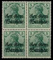 BES 1WK D-POST IN POLEN Nr 8a Ungebraucht VIERERBLOCK X774802 - Besetzungen 1914-18