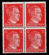 3. REICH 1942 Nr 827 Postfrisch VIERERBLOCK X78023A - Germany