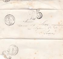 1853 PRECURSEUR COVER CIRCULATED BOURGTHEROULDE TO ROUEN, AUTRES MARQUES - BLEUP - 1853-1860 Napoléon III.
