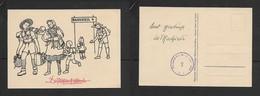 Austria, Cartoon, Pfadfindergruppe Hohenems, Vorarlberg. Design Emmi Von Tuszon, Censor 7, Post WWII - Scouting
