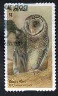 2016 SOOTY OWL AUSTRALIA POSTALLY USED $1 BOOKLET STAMP - Ile Norfolk