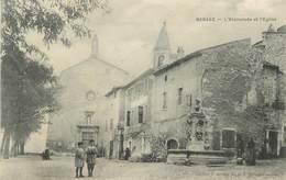 "CPA FRANCE 30 ""Barjac, L'esplanade Et L'église"". - France"