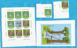 2007  RRR-IMPERFORATE  EUROPA CEPT KOSOVO SERBIA SRBIJA SCOUTS ACTION JETZ KAUFEN INTERESSANT MNH - Europa-CEPT