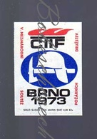 K8-1 CZECHOSLOVAKIA 1973 CTIF Brno Comité Technique International De Prévention Et D'Extinction Du Feu Helmet - Boites D'allumettes - Etiquettes