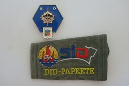 Lot Insigne Et Passant - Service De L'infrastructure De La Défense - Polynésie - D102 - Army