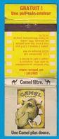 POCHETTE SANS ALLUMETTES IMP. A.M. MARTIN CLICHY / CAMEL FILTRE UNE CAMEL PLUS DOUCE GRATUIT UNE PELLICULE COULEUR - Boites D'allumettes