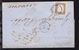 König Viktor Emanuell II 10 Cmi Auf Firmenbrief (G.B. Forre & Riglio, Firenze)  - Sardinien