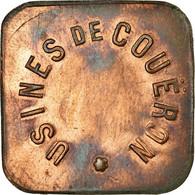 Monnaie, France, Usine De Couëron, Couëron, 25 Centimes, TTB, Cuivre - Monétaires / De Nécessité
