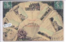 VERNEUIL-L ETANG- SOUVENIR DE- RARE CARTE FANTAISIE- COLORISEE RT TOILEE- EVENTAIL - Other Municipalities
