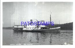 114630 ARGENTINA RIO PARANA SHIP VAPOR ESPAÑA POSTAL POSTCARD - Argentine
