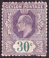 CEYLON 1904 12 Cents Sage-Green & Rosine SG285 Fine Used - Ceylon (...-1947)
