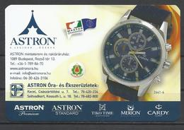 Hungary, Cardy 2641-6  Watch, Astron Shops Ad,  2019. - Small : 2001-...