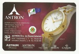 Hungary, Cardy 2654-8  Watch, Astron Shops Ad,  2019. - Small : 2001-...