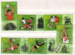 1986 Football World Cup – MEXICO 6v.-used (O) BULGARIA  / Bulgarie - Bulgarie