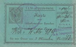 Karte Zum Telefonieren, 5 Minuten: -Kaltenleutgeben - 1850-1918 Imperium