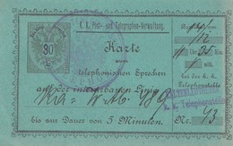 Karte Zum Telefonieren, 5 Minuten: -Kaltenleutgeben - 1850-1918 Empire