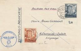 GG: Zeitungsdrucksache-Streifband, Portogerechte Schöne Frankatur Nach Kühnhaide - Occupation 1938-45