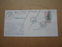 """VEND BEAU TIMBRE DES T.A.A.F. N° 84 SUR LETTRE , """" DUMONT-D'URVILLE-T.ADELIE """" !!! (d) - Covers & Documents"""