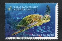 2018 GREEN SEA TURTLE AUSTRALIA POSTALLY USED $1 SHEET STAMP - Norfolk Island