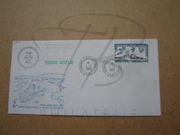 """VEND BEAU TIMBRE DES T.A.A.F. N° 80 SUR LETTRE , """" DUMONT-D'URVILLE-T.ADELIE """" !!! (d) - Covers & Documents"""