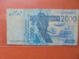 AFRIQUE De L'OUEST 2000 FRANCS 2003 CIRCULER - États D'Afrique De L'Ouest