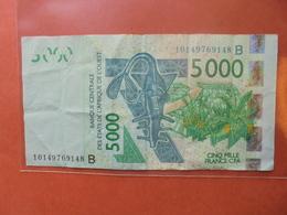 AFRIQUE De L'OUEST 5000 FRANCS 2003 CIRCULER - États D'Afrique De L'Ouest