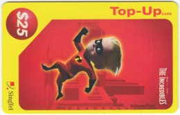 SINGAPORE B-226 Prepaid SingTel - Cinema, The Incredibles - Used - Singapore