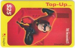 SINGAPORE B-228 Prepaid SingTel - Cinema, The Incredibles - Used - Singapore