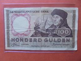 PAYS-BAS 100 GULDEN 1953 CIRCULER (Réparer Léger !) - 100 Gulden