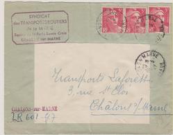 Chalons-sur-Marne - Marne - Recommande - Gandon - Marcophilie (Lettres)