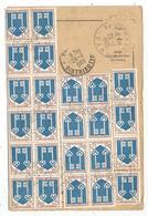 BLASON MONT DE MARSAN BLOC DE 12+8+4 CARTE Pli Central  ORDRE REXPEDITION PARIS 1969 - Marcophilie (Lettres)