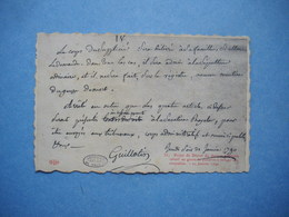 Carte Projet De Décrêt Du Docteur Guillotin  -  Histoire - Histoire