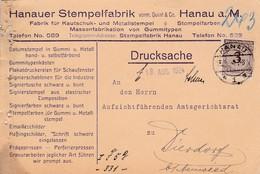 Karte Aus Hanau Nach Dierdorf 1924 - Germania