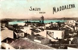 AP642  SALUTI DALLA MADDALENA- SASSARI - FP VIAGGIATA 5.4.1916 FOTOGRAFICA - RARA - Sassari
