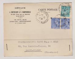 Meurthe Et Moselle / Nancy - Marcophilie (Lettres)