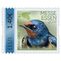 ESTONIA Bird  Barn Swallow (Hirundo Rustica) 2019 Minu Mark 1v MNH Messe Essen - Estonia