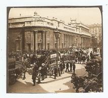PHOTO ORIGINALE DEBUT XXème SIECLE BANQUE D'ANGLETERRE BANK Of ENGLAND - VOITURE HIPPOMOBILE ATTELAGE - Places