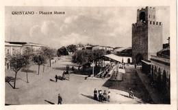 AP652 ORISTANO - PIAZZA ROMA  MERCATO - FP NV EPOCA 1935 BELLA!! ANIMATA - Oristano