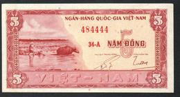 South Vietnam 5 Dong 1955 XF+++ - Vietnam