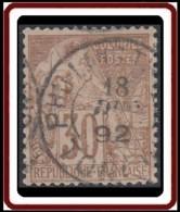 Colonies Générales - N° 55 (YT) N° 55 (AM) Oblitéré De Phu-Lang-Tuong / Tonkin. - Alphée Dubois