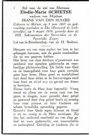 """Melsen, Eke,"""" De Lichtervelde"""", 1959, Elodie Schietse, Van Den Bulcke - Images Religieuses"""